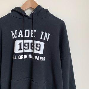 Vintage Oversized Hoodie Sweatshirt